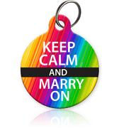 Keep Calm and Marry On Pet ID Tag - Aw Paws