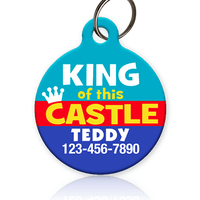 King of this Castle Pet ID Tag