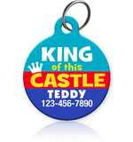King of this Castle - Pet ID Tag