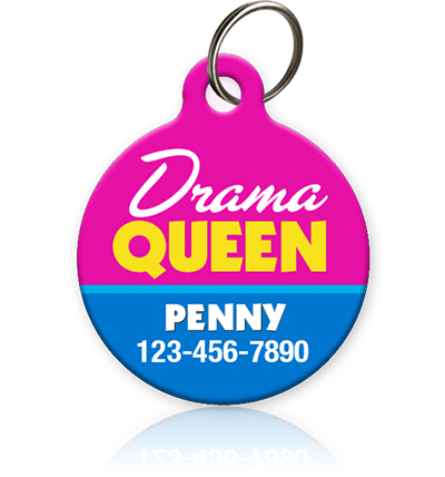 Drama Queen - Pet ID Tag