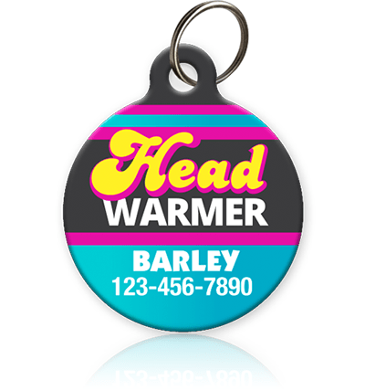 Head Warmer - Pet ID Tag