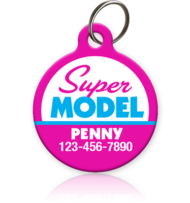 Super Model Pet ID Tag