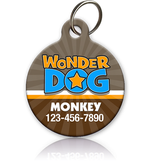 Wonder Dog Pet ID Tag