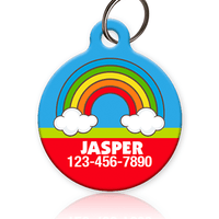 rainbow pet id tag for dog or cat