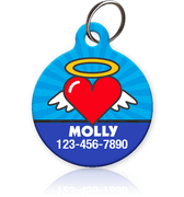 Angel Heart Pet ID Tags