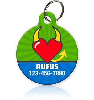 Devil Heart Pet ID Tags - Aw Paws