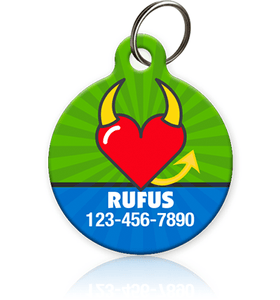 Devil Heart - Pet ID Tags