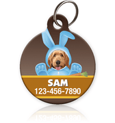 Blue Bunny Photo Pet ID Tag