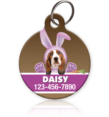 Pink Bunny - Pet ID Tag