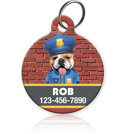 Cop Pet ID Tag - Aw Paws