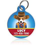 Cowboy Pet ID Tag - Aw Paws