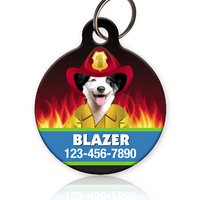 Firefighter Pet ID Tag - Aw Paws