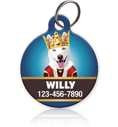 King - Pet ID Tag