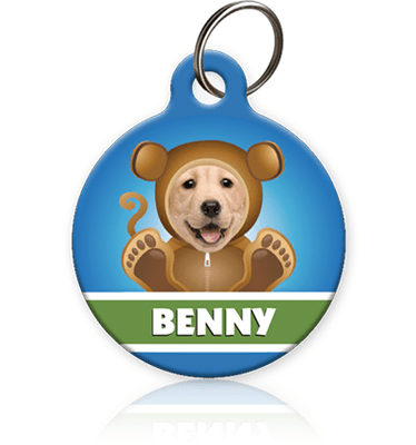 Boy Monkey Photo Pet ID Tag