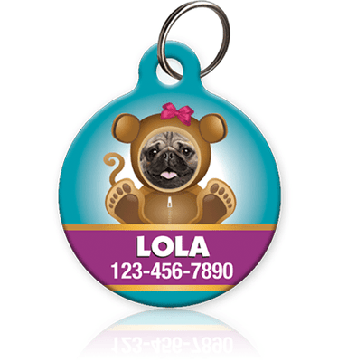 Girl Monkey - Pet ID Tag