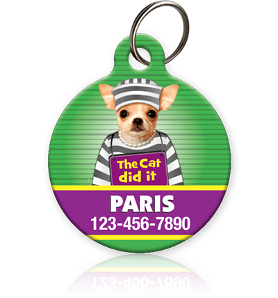 Mugshot Version 2 Pet ID Tag - Aw Paws