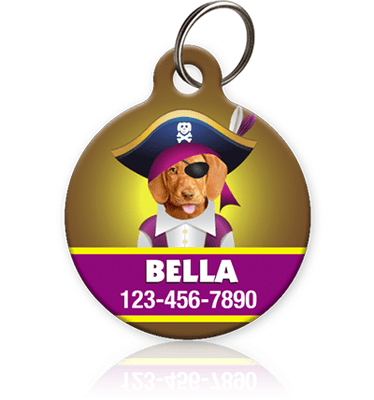 Girl Pirate - Pet ID Tag
