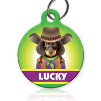 Cowgirl - Pet ID Tag