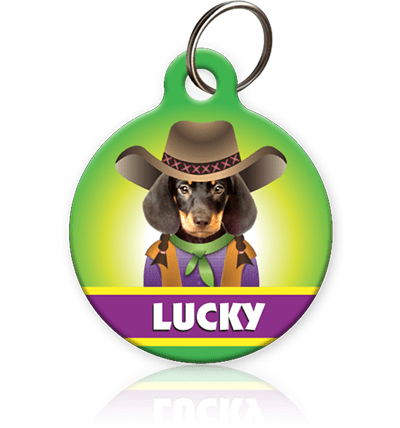 Cowgirl Pet ID Tag - Aw Paws