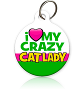 crazy cat lady id tag