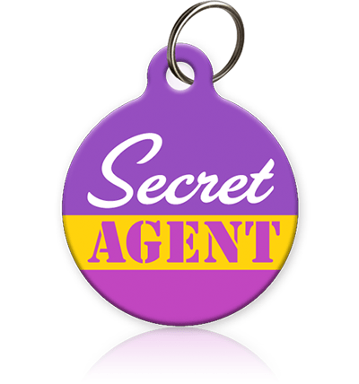 Secret Agent Cat ID Tag - Aw Paws