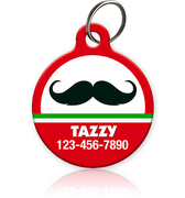 Holiday Mustache Pet ID Tag - Aw Paws
