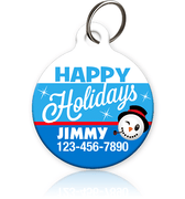 Happy Holidays - Pet ID Tag