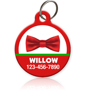 Holiday Bow Tie Pet ID Tag - Aw Paws