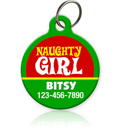 Naughty Girl Pet ID Tag