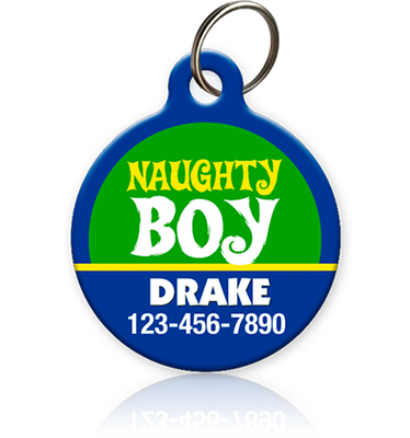 Naughty Boy Pet ID Tag