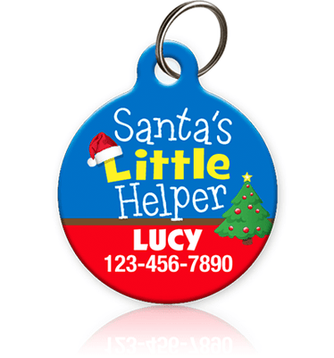 Santa's Little Helper Pet ID Tag