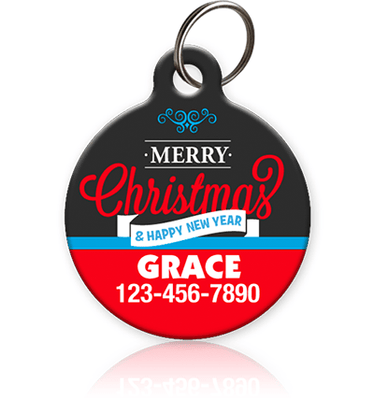 Merry Christmas Pet ID Tag