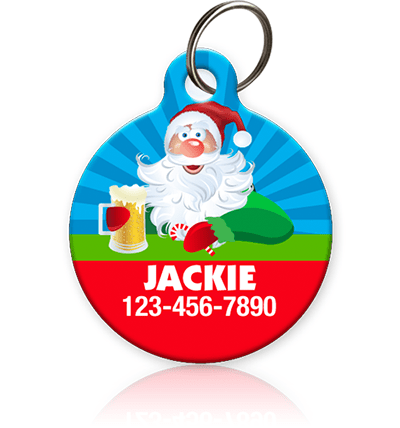 Drunk Santa Pet ID Tag - Aw Paws
