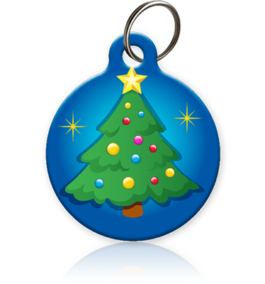 Xmas Tree Pet ID Tag