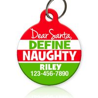 Dear Santa Define Naughty Pet ID Tag
