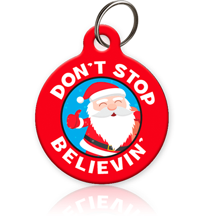 Don't Stop Believing Pet ID Tag - Aw Paws