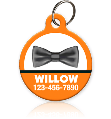 Bow Tie Halloween Pet ID Tag