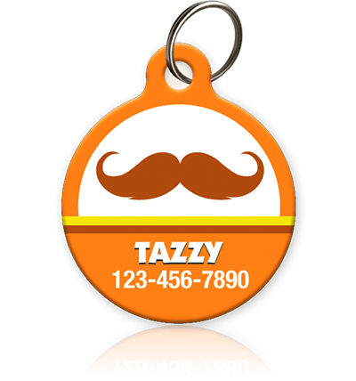 Mustache Halloween - Pet ID Tag