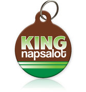 King Napsalot - Cat ID Tag