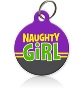 Naughty Girl - Cat ID Tag
