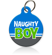 Naughty Boy - Cat ID Tag