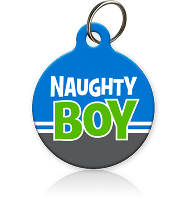 Naughty Boy Cat ID Tag