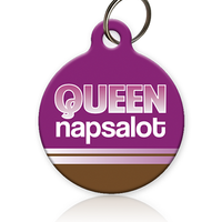 Queen Napsalot Cat ID Tag