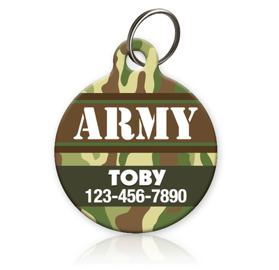 US ARMY Pet ID Tag
