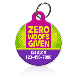 Zero Woofs Given | Pet ID Tag - Aw Paws