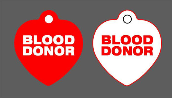 Blood Donor - CUSTOM TAG