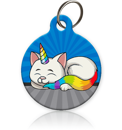 Cat Unicorn Rainbow Pet ID Tag - Aw Paws