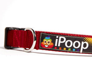 IPOOP RAINBOWS DOG COLLAR