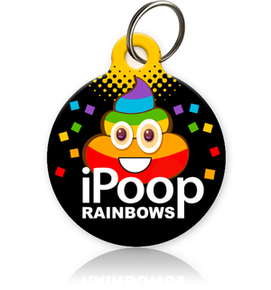 iPoop Rainbows Pet ID Tag