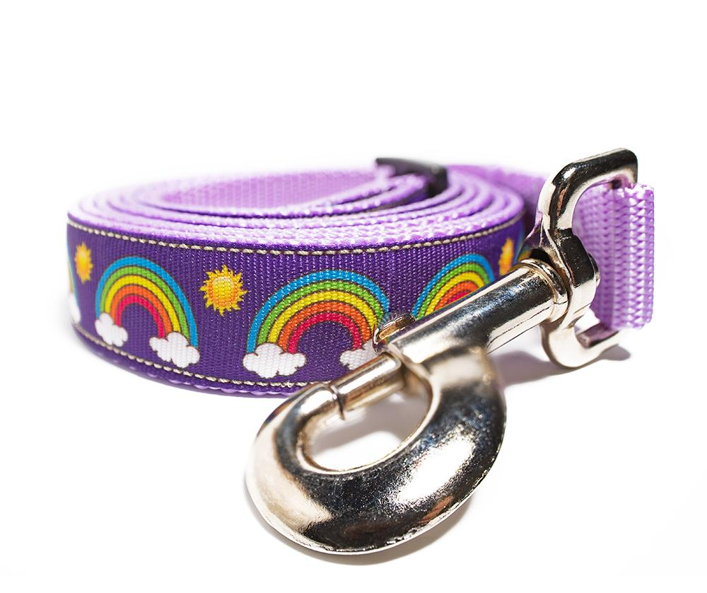 Rainbow Dog Leash - Aw Paws